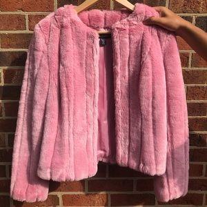 Pink Ideology Faux Fur Coat